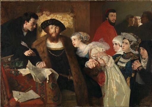 Christian II undertegner dødsdommen over Torben Oxe