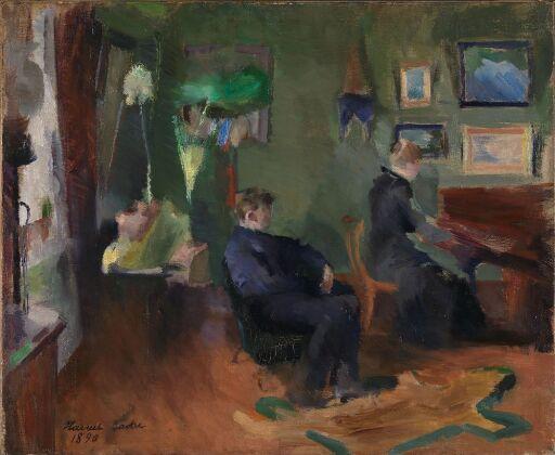 Musikk, interiør fra Kristiania
