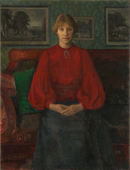 Kunstnerens hustru, malerinnen Kristine f. Laache