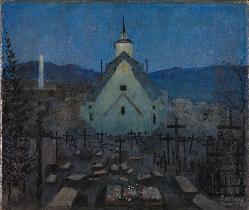 Night, the Church at Røros. Sketch for Night 1904