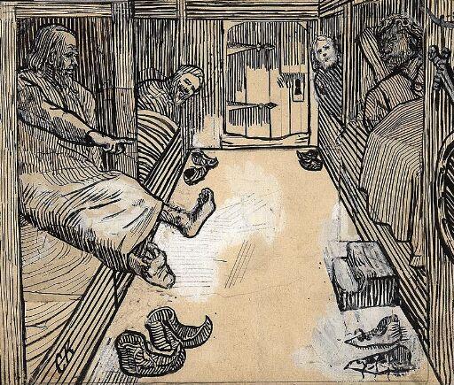 """Illustrasjon til """"Olav den helliges saga"""" i Snorre Sturlason, Kongesagaer, Kristiania 1899"""
