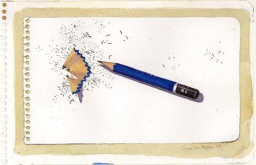 Spisset blyant