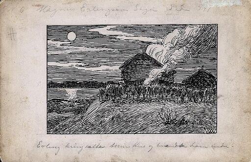 """Ill. til """"Magnus Erlingsons Saga"""" i Snorre Sturlason, Kongesagaer, Kristiania 1899"""