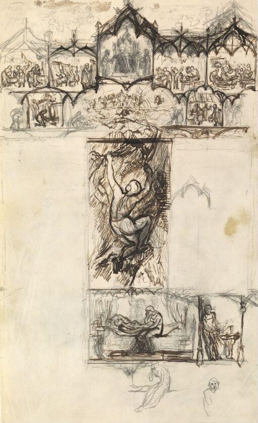 Forarbeid til illustrasjon, Kvitebjørn kong Valemon