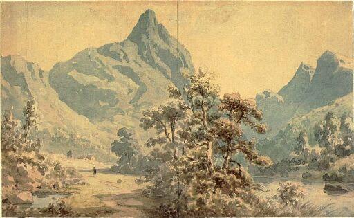 Romsdalshorn ved Monge i Romsdalen