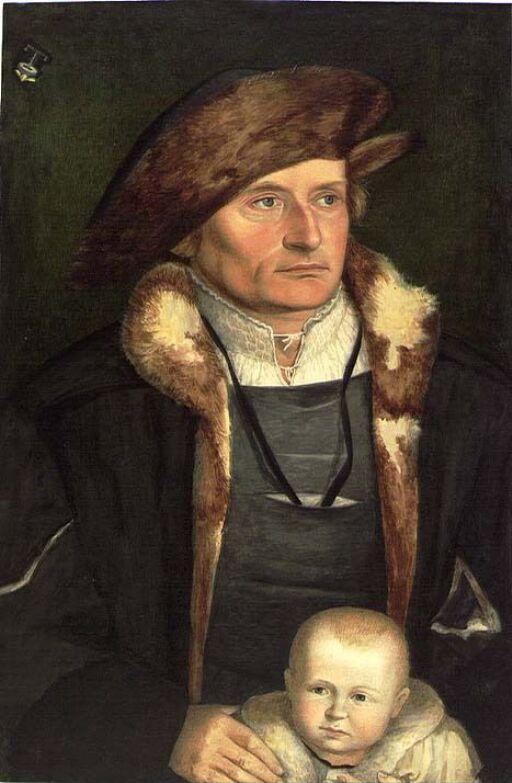 Mannsportrett. Etter Hans Holbein