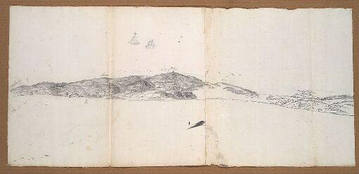 Panorama over Jarlsberg grevskap; seilbåter