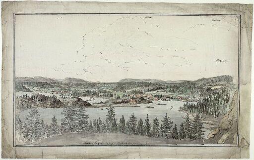 Utsikt mot Vækerø og Lysaker