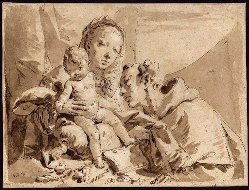 Maria med Jesusbarnet og en helgen