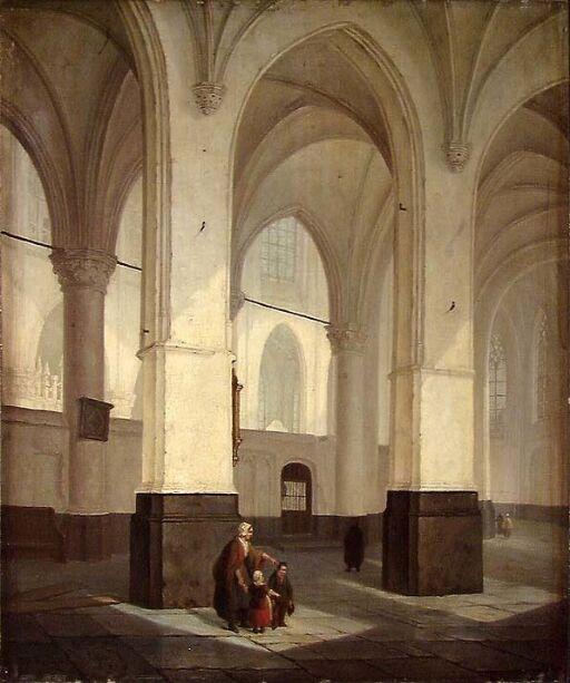 Gotisk kirkeinteriør