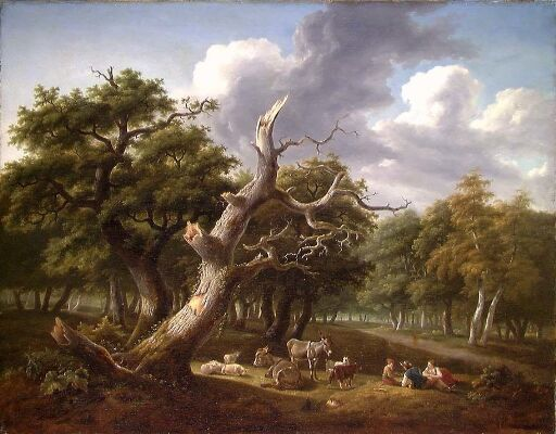 Woodland Scene with Figures