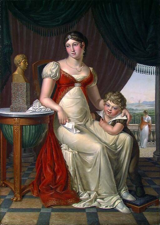 En genuesisk dame og hennes sønn