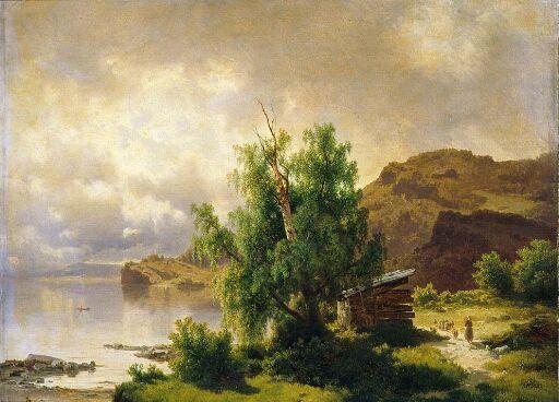 View of Holsfjorden, Ringerike