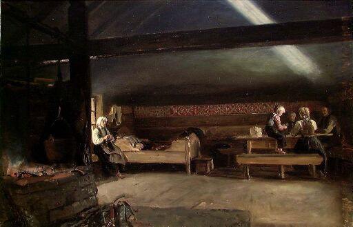 En krotet røykstue, Vikøy