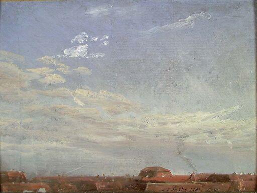 Skystudie over Neustadts røde hustak