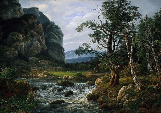 Nordic Landscape with a River