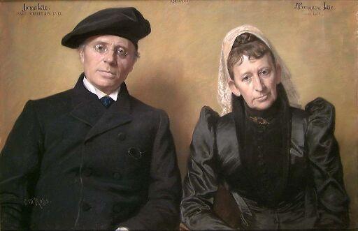 Dikteren Jonas Lie og hans hustru Thomasine