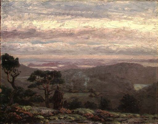 Friars in an Evening Landscape
