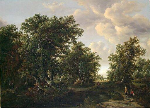 Ekeskog, kopi etter M. Hobbema