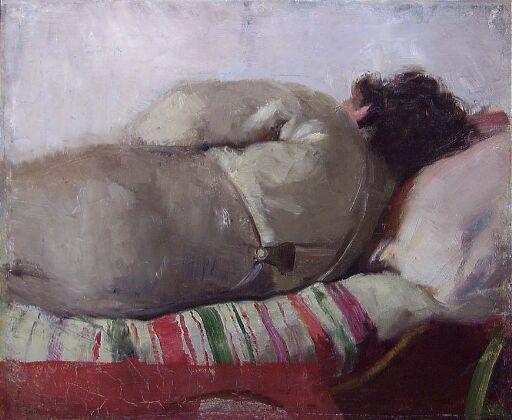 En sovende mann