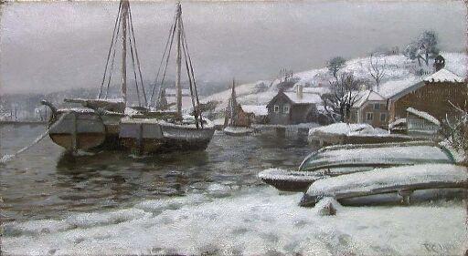 Havneparti fra Porsgrunn