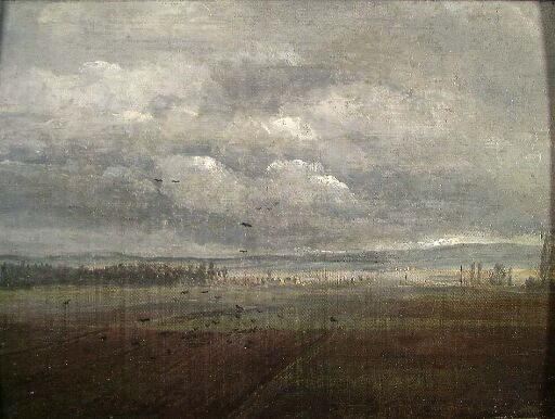 Clouds over ploughed Land