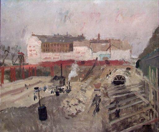 Gare d'Orleans i Paris under bygging