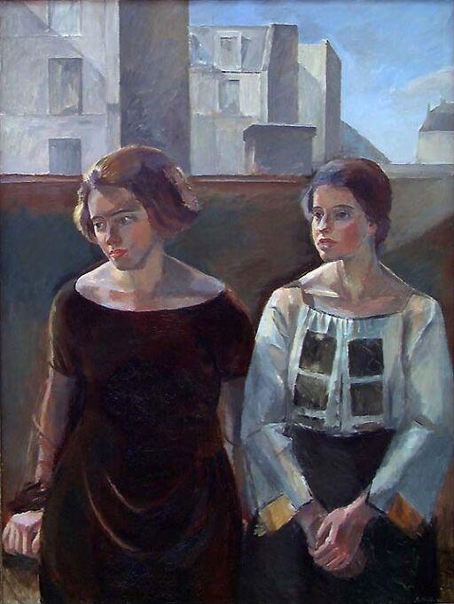 De svenske malerinnene Agnes Mannheimer (t.h.) og Siri Rathsman