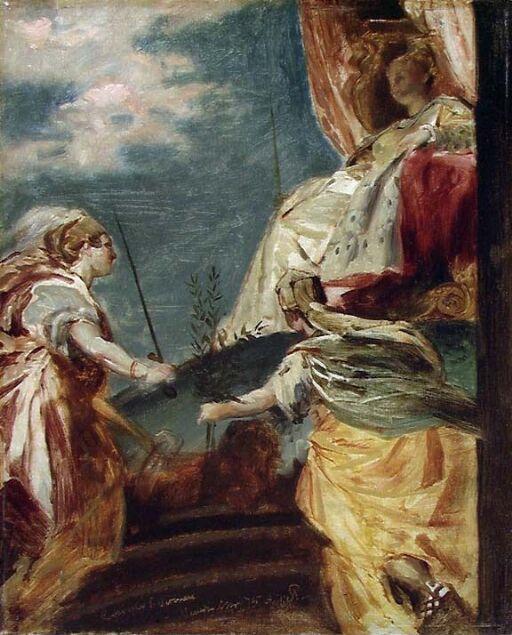 Venice enthroned. Copy after Veronese