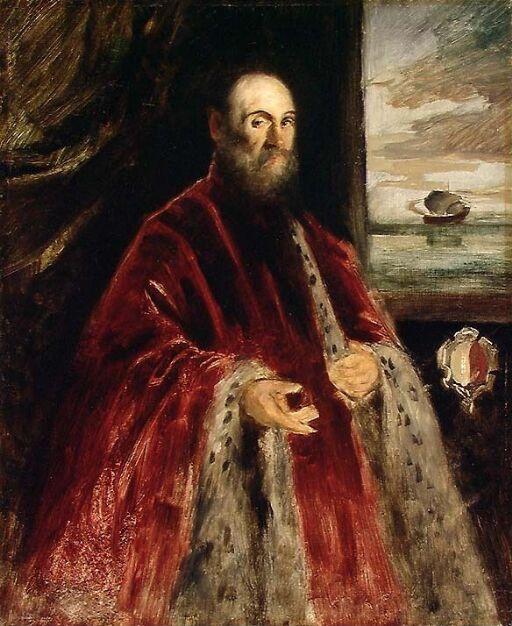 Copy of a Portrait of a Venetian Patrician