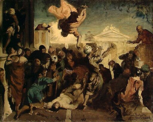 Miracle of St Mark. Copy after Tintoretto