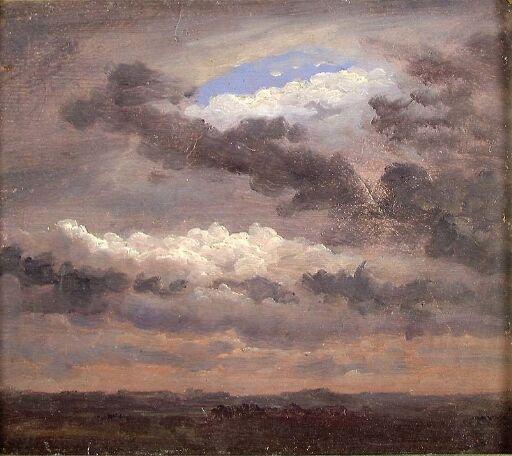 Clouds over a flat Landscape