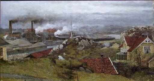 View of Vigsnes at Karmøy