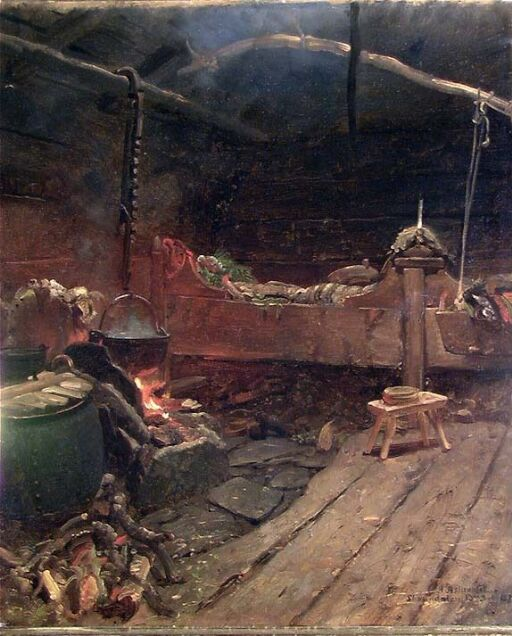 Interior from an Open-Hearth Room