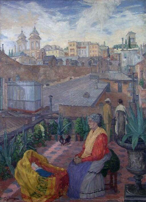 Terrasse i Roma