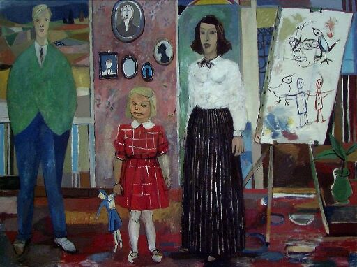 The Family, the Artist's Wife and Child