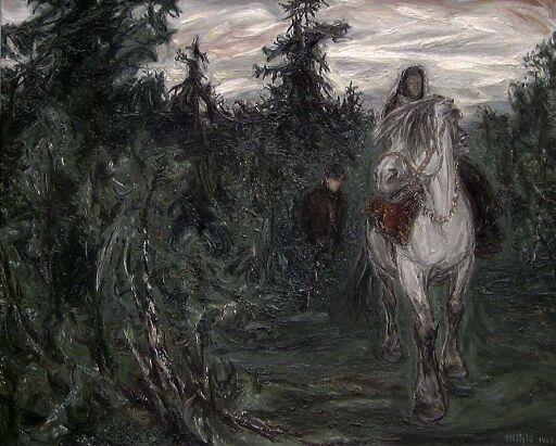 Guro riding to Matins
