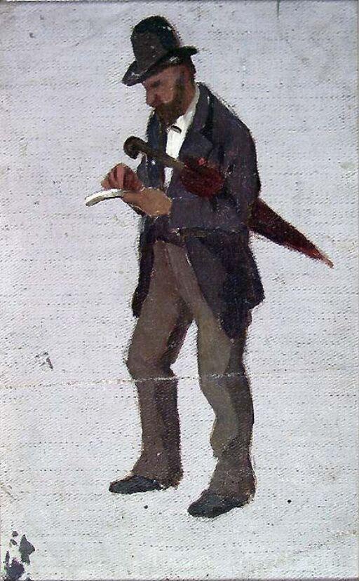 Mann med paraply, studie