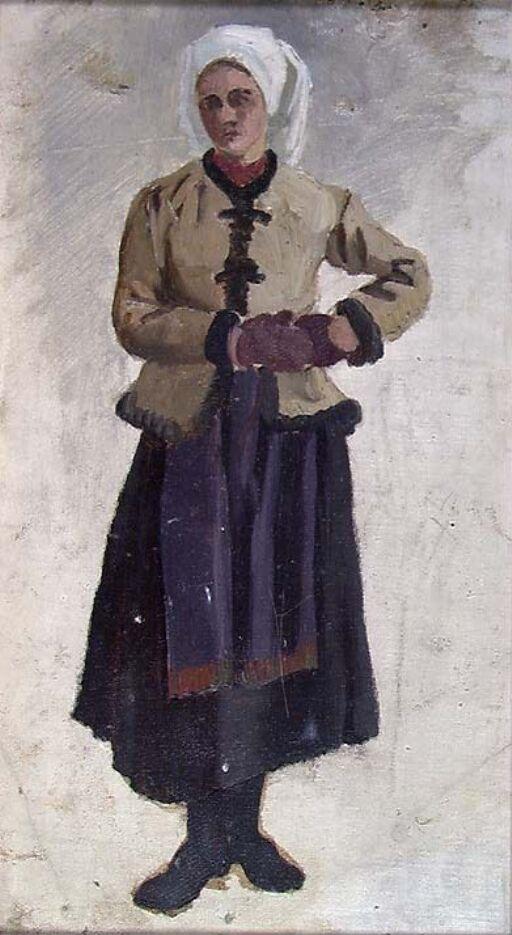 Kvinne i folkedrakt