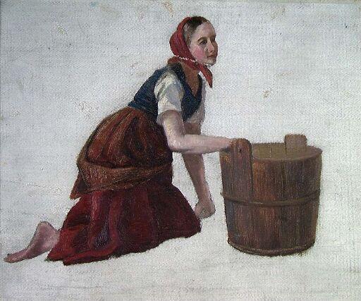 Kvinne med stamp