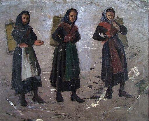 Women carrying Milk Tubs
