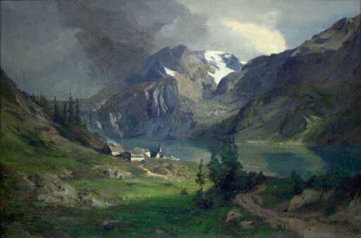 Mountainlandscape with Village