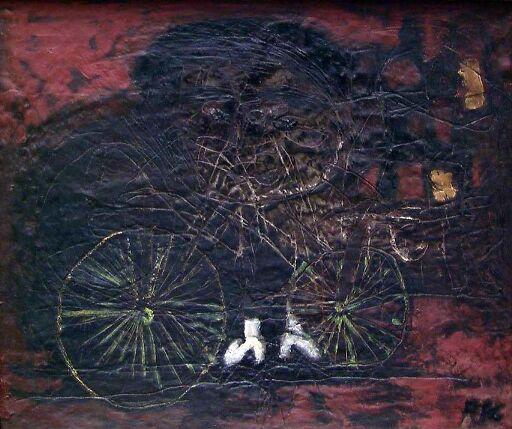 Pike med sykkel