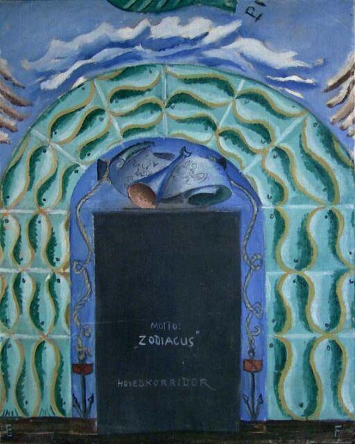 Zodiacus. From Zodiacus, sketch for Sjømannsskolen in Oslo