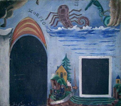 Scorpio. Fra Zodiacus, utkast Sjømannsskolen i Oslo