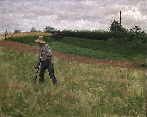 Landskap med slåttekar