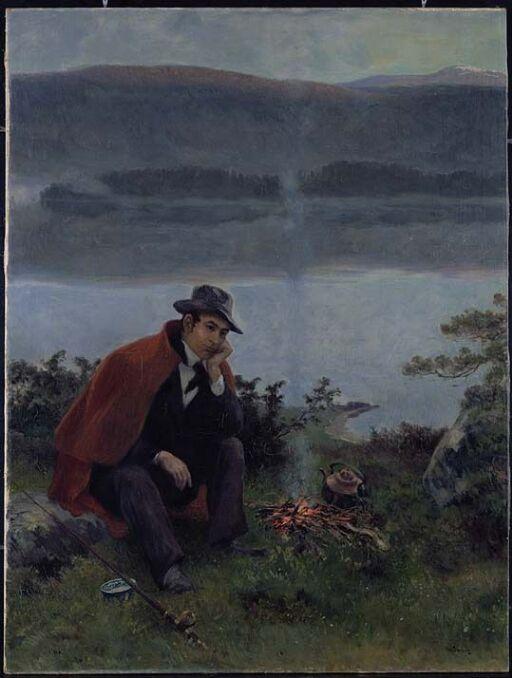 Jørgen Moe på fisketur