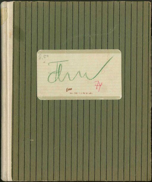 Skissebok antagelig fra 1974