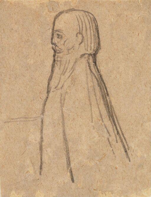 Half lenght Figure in profile