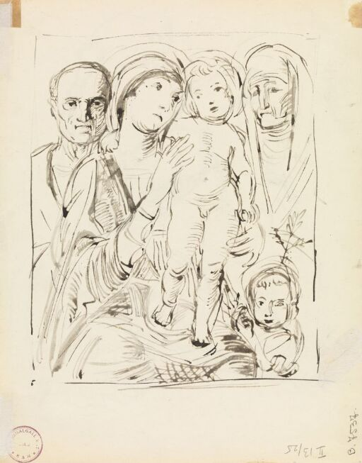 Madonna og barnet med Josef, Elisabeth og Johannes Døperen